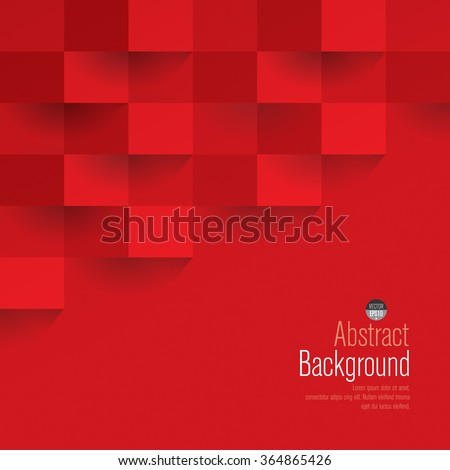 Red Geometric Vector Background Can Be Stock Vector 364865426 ...