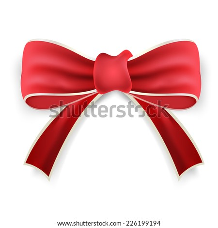 red gift bow.vector