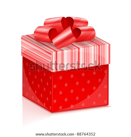 Red gift box vector illustration