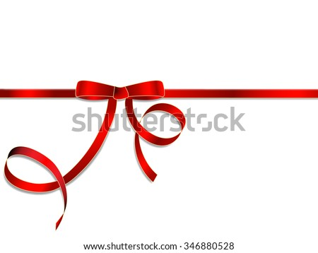 Red gift ribbon  - stock vector