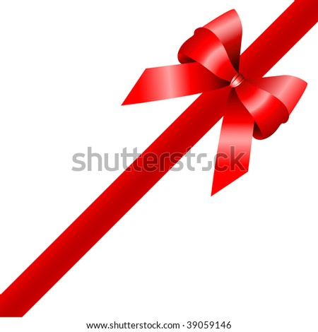 red gift, ribbon