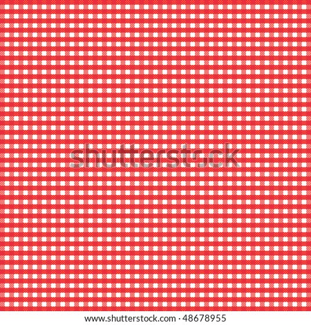Red gingham - stock vector
