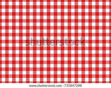 Red Gingham Tablecloth Seamless Background Pattern Design