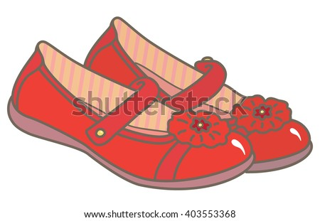 Red girls' shoes