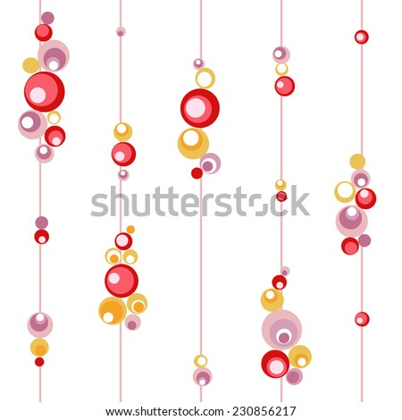 red, gold, lilac bead decoration