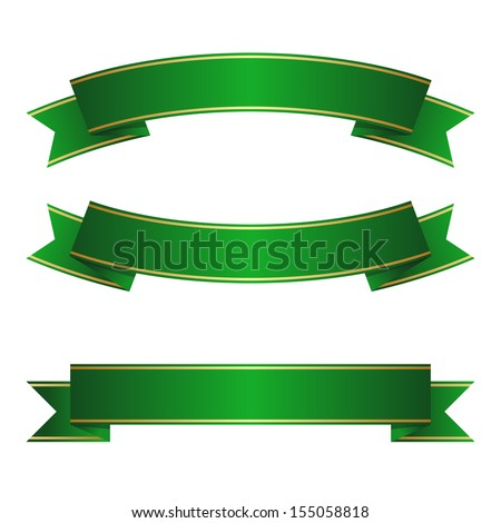 Red gold ribbon collection - stock vector