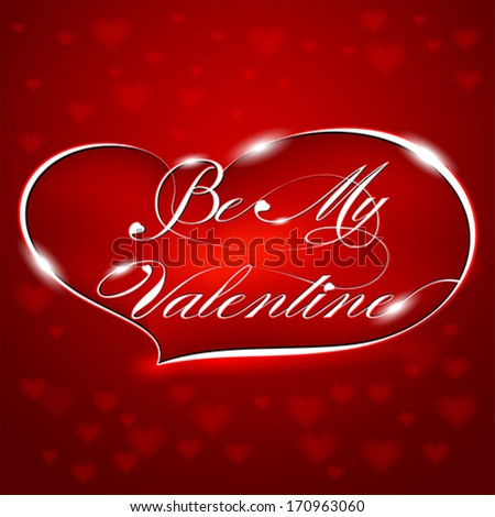 Red Greeting Card Be My Valentine�, vector