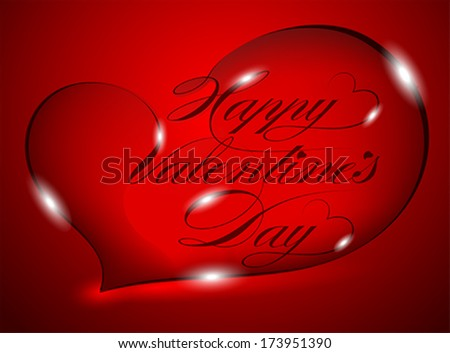 Red Greeting Card - Happy Valentine's Day�, vector