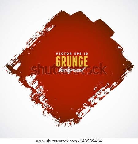 Red grunge banner with copy space - stock vector