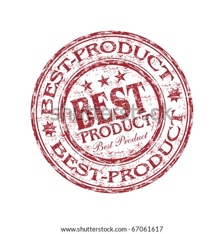Red grunge rubber stamp with the text best product written inside the stamp - stock vector