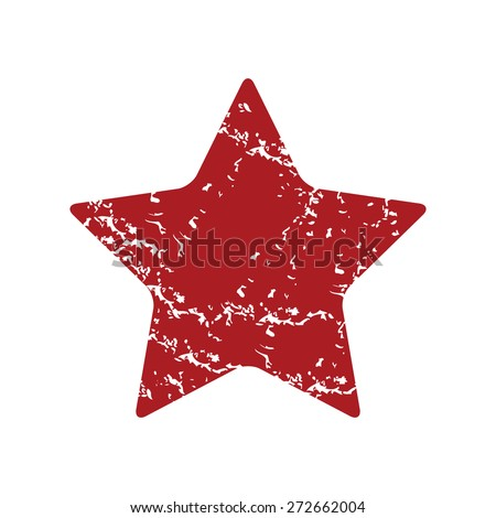 Red grunge star logo on a white background. Vector illustration - stock vector