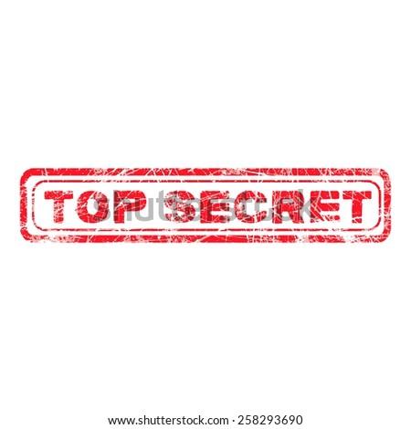 red grunge top secret rubber stamp, vector illustration - stock vector