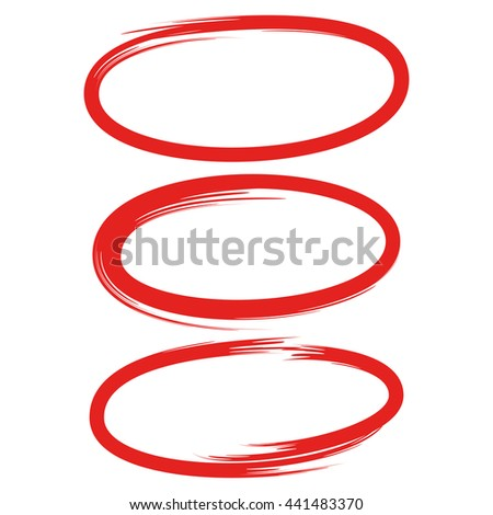 Scribble Circle Oval Highlight Text Marker Stock Vector ...