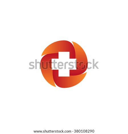 red health care Icon concept - stock vector