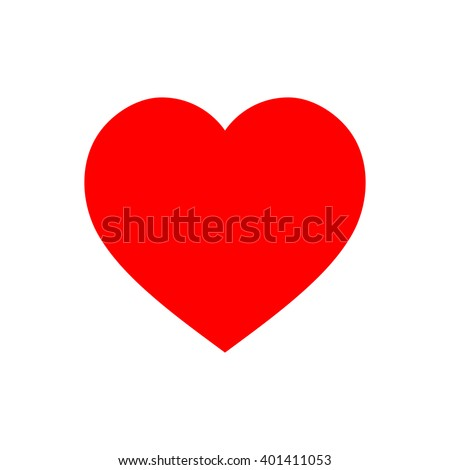 Red heart Icon in trendy flat style isolated on white background. Love symbol for your web site design, logo, app, UI. Vector illustration, EPS10.