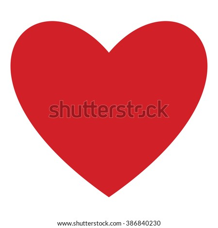 Red Heart icon isolated on background. Modern simple flat feelings shape sign. Medical, internet concept. Trendy vector love symbol for website design, web button, mobile app. Logo illustration  - stock vector
