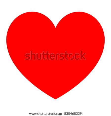 red heart icon vector eps 10 stock vector 535468339 shutterstock rh shutterstock com heart icon vector free heart icon vector free