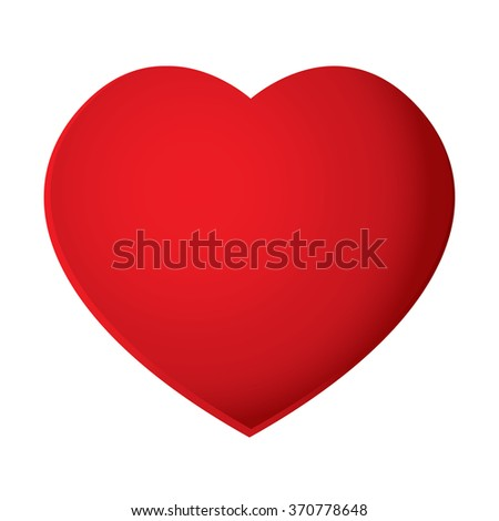 Red heart isolated on white background. Heart Vector.