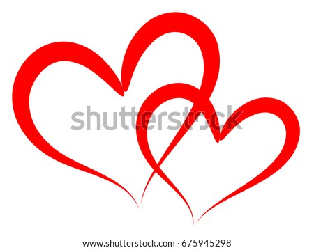 Heart Outline Vector Sketch Draw Paint Stock Vector ...