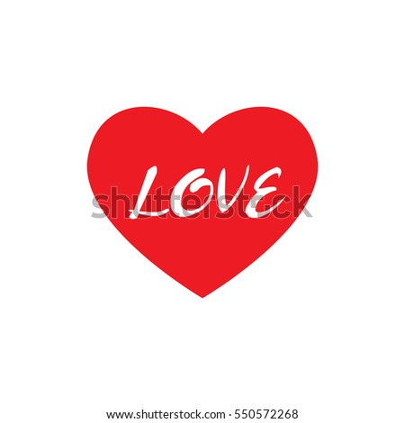 Red heart on abstract background.Love Vector illustration