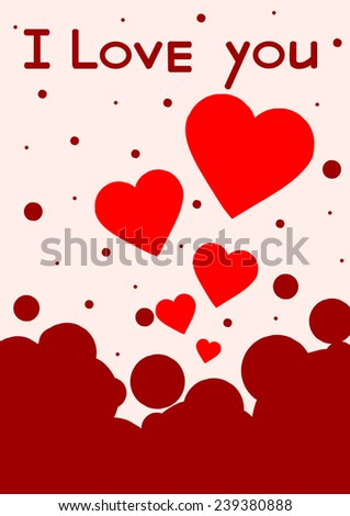 Red heart paper classic valentine's day vector illustration - stock vector