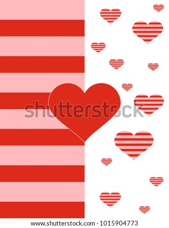 Red heart postcard