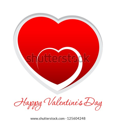 Red Heart. Valentine's day or Wedding vector background - stock vector