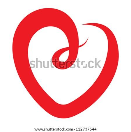 Red heart vector - stock vector