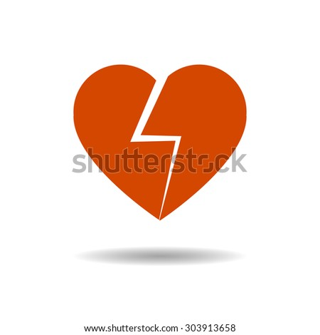 red heart vector illustration eps10 on grey background