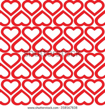 red Hearts  pattern. Abstract background.