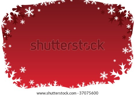 Red Holiday Border Background