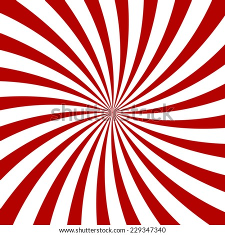 Red Hypnosis Spiral Pattern. Optical illusion. Vector illustration - stock vector
