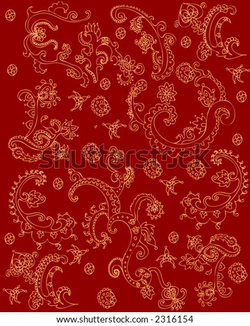 red indian texture - stock vector