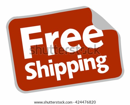 red label free shipping stock vector hd royalty free 424476820
