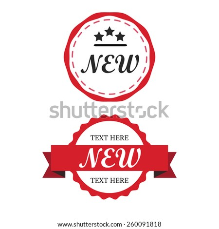 Red Label vintage - stock vector