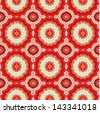 Red laced geometric pattern - stock