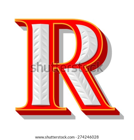 Red letter. - stock vector