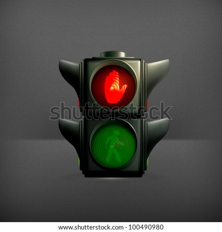 Red light, vector