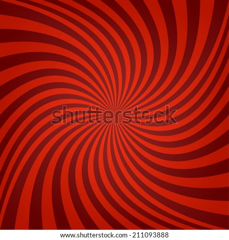 Red maroon spiral background - vector version - stock vector