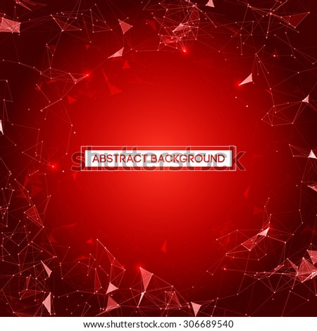 Red Mesh Vector Background | EPS10 Design - stock vector