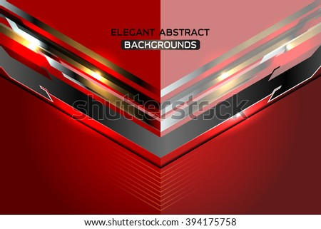 red modern abstract template background, Vector Illustration