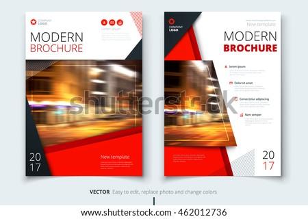 Red Modern Brochure Design Corporate Business Stock Vector - Modern brochure design templates