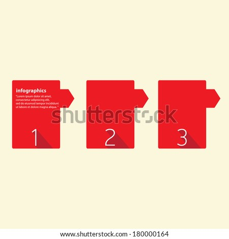 red Modern trendy  Design template / can be used for infographics / numbered banners / graphic or website layout vector