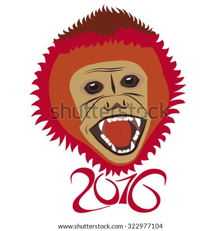 Red New Year Monkey
