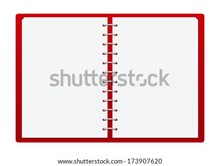 Red notebook with place for Your text