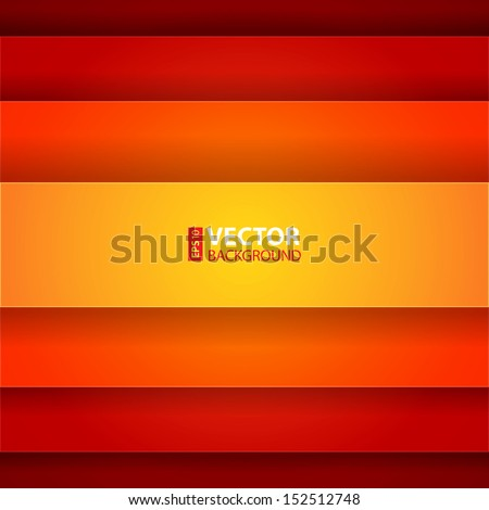 Red, orange and yellow paper layers abstarct vector background. RGB EPS 10 vector illustration - stock vector