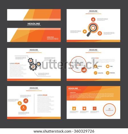 red orange presentation template infographic elements stock vector 360329726 shutterstock. Black Bedroom Furniture Sets. Home Design Ideas