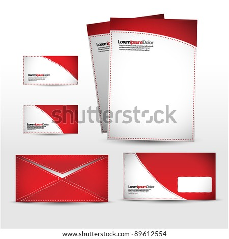 red Package - stock vector