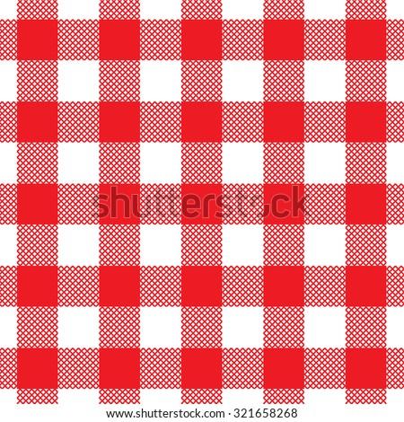 Red pattern vector illustration - stock vector