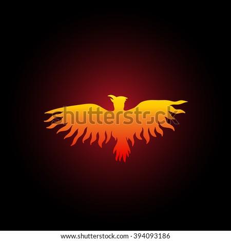 Red phoenix bird on black background stock vector 394093186 red phoenix bird on black background vector illustration voltagebd Choice Image